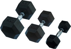 Dumbell Olympic Hex Rubber Pair