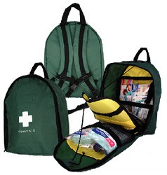 First Aid Kit Back Pack