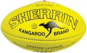 Sherrin Football KB Poly Coated Yellow 4