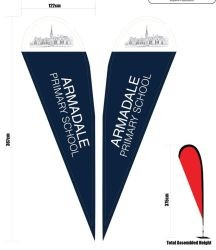 Tear Drop Banner Double Sided Print